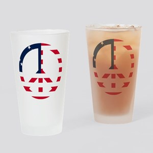 American Flag Peace Sign Betsy Ross Drinking Glass