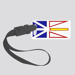 Newfie Flag Clear Small Luggage Tag