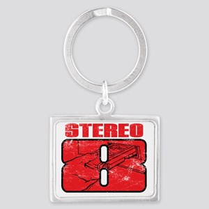 Stereo8_distress Landscape Keychain