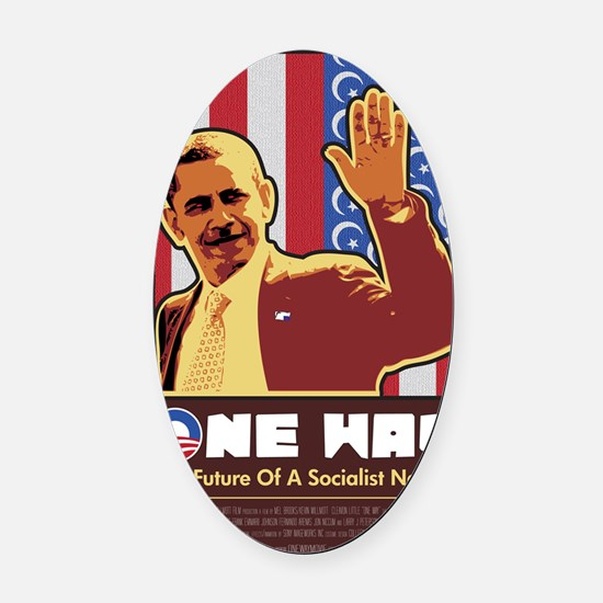 One Way Oval Car Magnet