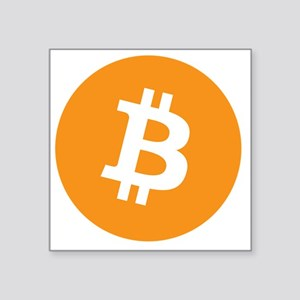 "Bitcoin1 Square Sticker 3"" x 3"""