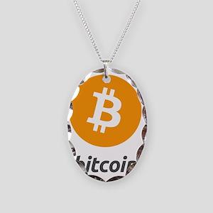 Bitcoin2 Necklace Oval Charm