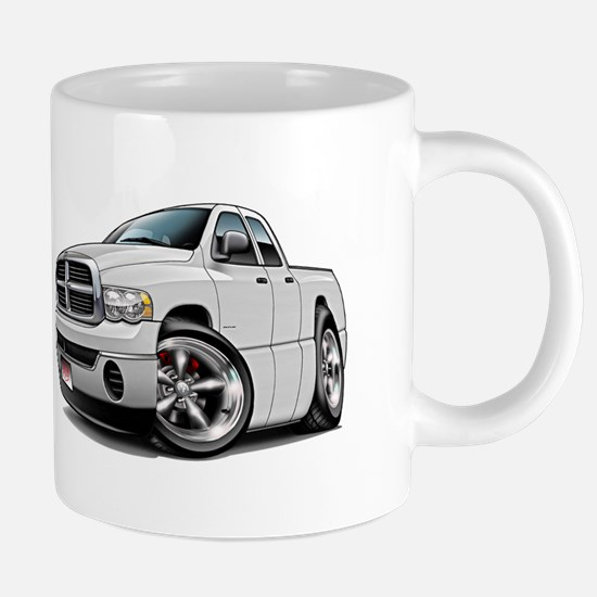 Dodge Ram White Dual Cab Mugs