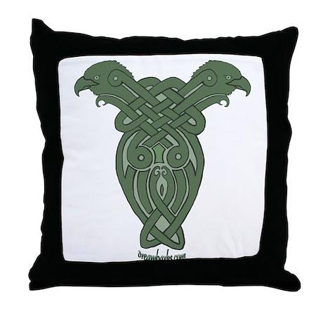 Celtic Eagle Throw Pillow