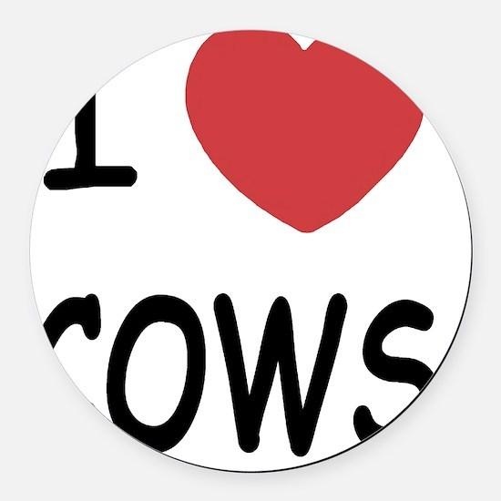 COWS Round Car Magnet