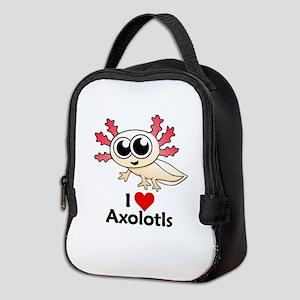 I Love Axolotls Neoprene Lunch Bag