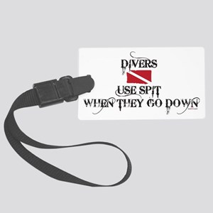 Divers Use Spit - White Large Luggage Tag
