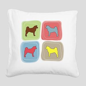 colorblock2 Square Canvas Pillow
