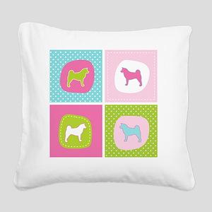 colorblock4 Square Canvas Pillow