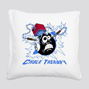 Chalk Therapy (dark shirt) Square Canvas Pillow