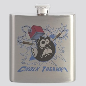 Chalk Therapy (dark shirt) Flask
