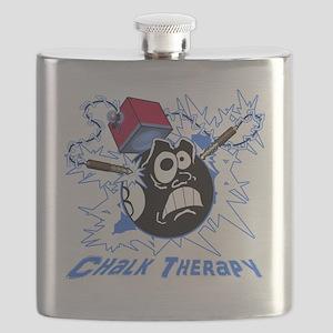 Chalk Therapy (dark shirt) Flask
