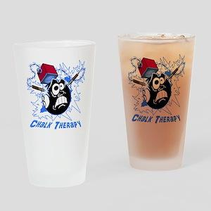 Chalk Therapy (dark shirt) Drinking Glass