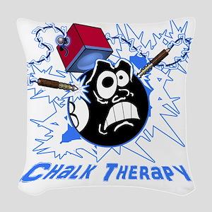 Chalk Therapy (dark shirt) Woven Throw Pillow