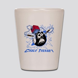 Chalk Therapy (dark shirt) Shot Glass