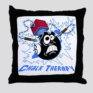 Chalk Therapy (dark shirt) Throw Pillow