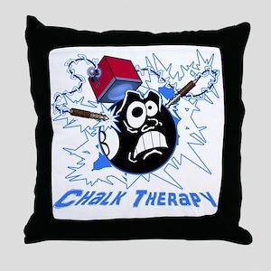 Chalk Therapy (dark shirt) Throw Pillow