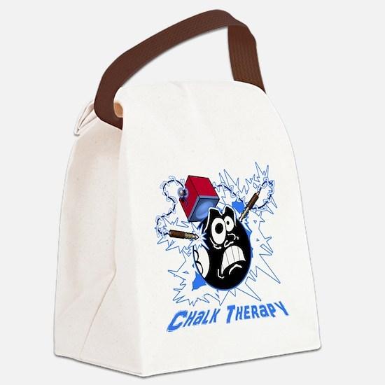 Chalk Therapy (dark shirt) Canvas Lunch Bag