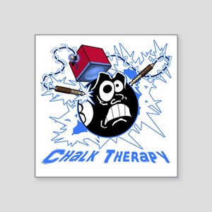 "Chalk Therapy (dark shirt) Square Sticker 3"" x 3"""