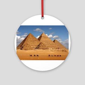 Pyramids of Egypt Ornament (Round)