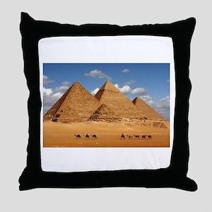 Pyramids of Egypt Throw Pillow