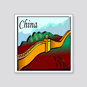"china Square Sticker 3"" x 3"""