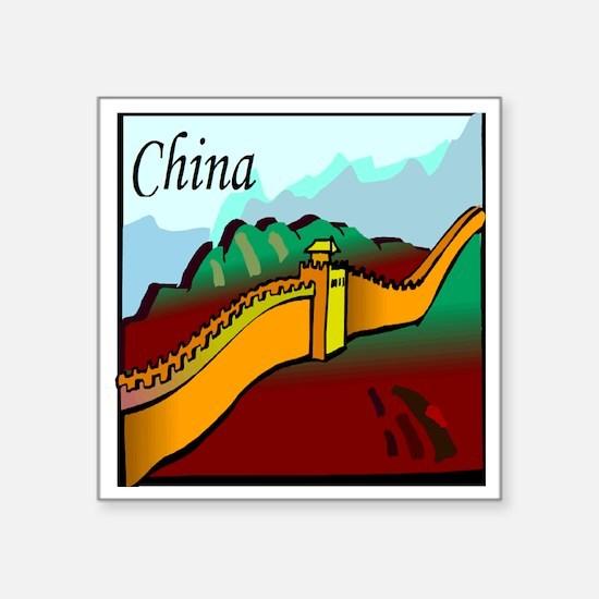 "china Square Sticker 3"" x 3"""