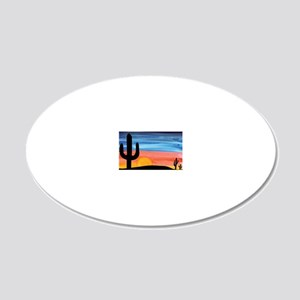 sunset_painting 20x12 Oval Wall Decal