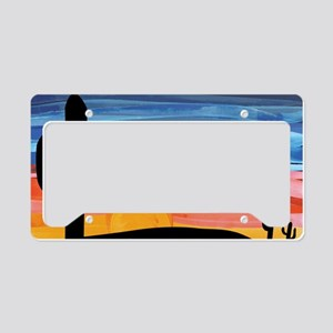 sunset_painting License Plate Holder