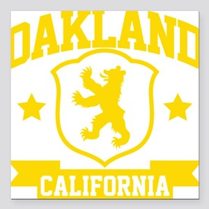 "oakland03 Square Car Magnet 3"" x 3"""