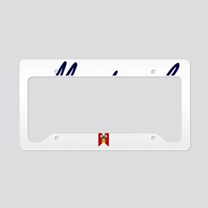 Montreal Script W License Plate Holder
