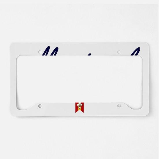Montreal Script W License Plate Holder