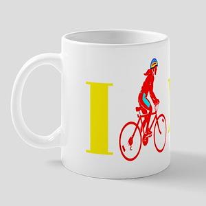 I Bike NYC RED transp Mug
