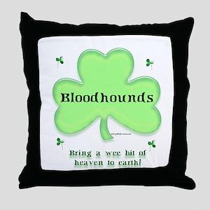 Bloodhound Heaven Throw Pillow