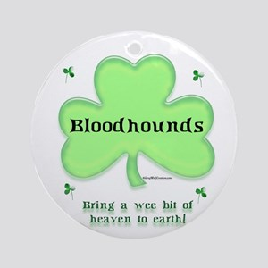 Bloodhound Heaven Ornament (Round)
