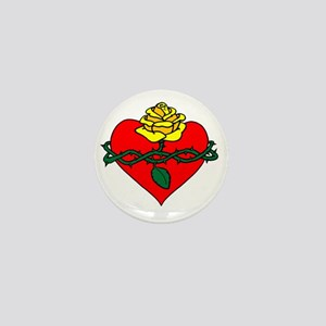 sacred heart filled Mini Button