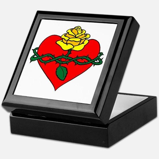 sacred heart filled Keepsake Box