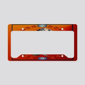 Wall Peel War Horse Oval License Plate Holder