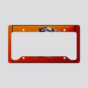 Wall Peel War Horse License Plate Holder