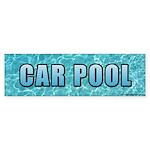 CAR POOL Bumper Sticker