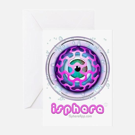 iSphere iconLogo01bw Greeting Card