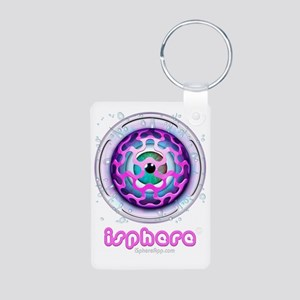 iSphere iconLogo01bw Aluminum Photo Keychain