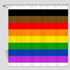 Philly's Pride Flag Shower Curtain