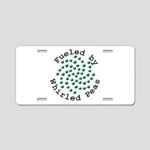 Fueled by Whirled Peas Aluminum License Plate
