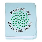 Fueled by Whirled Peas baby blanket