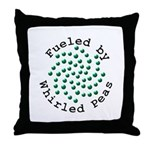 Fueled by Whirled Peas Throw Pillow