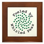 Fueled by Whirled Peas Framed Tile