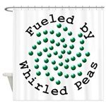 Fueled by Whirled Peas Shower Curtain