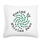 Fueled by Whirled Peas Square Canvas Pillow