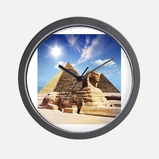 Sphinx and Egyptian Pyramids Wall Clock